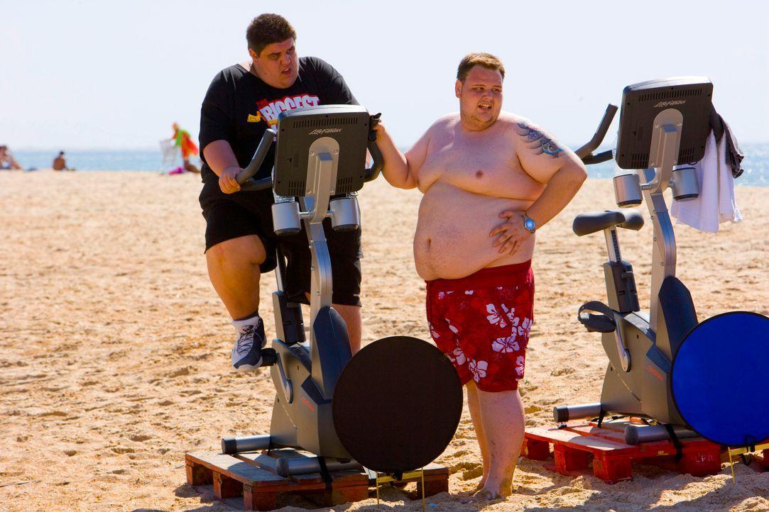 The-Biggest-Loser-Mini-Triathlon-Folge1-0005 - Bildquelle: SAT.1/Enrique Cano