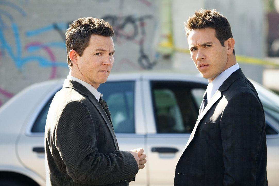 Die Ridaz und die Latin Hustlers, zwei brutale Straßengangs, bereiten Detective Sammy Bryant (Shawn Hatosy, r.) und Detective Nate Moretta (Kevin A...