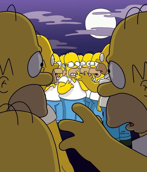 Eines Tages kauft Homer eine magische Hängematte, die ihn klonen kann. Doch schon bald gerät sein Leben total außer Kontrolle, als eine Armee von Ho... - Bildquelle: TWENTIETH CENTURY FOX FILM CORPORATION