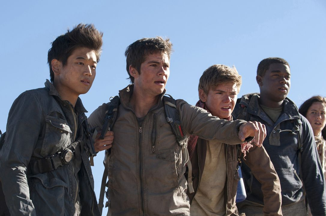 Müssen sich erneut unter grauenvollen Umständen beweisen: (v.l.n.r.) Minho (Ki Hong Lee), Thomas (Dylan O'Brien), Newt (Thomas Brodie-Sangster), Fry... - Bildquelle: 2015 Twentieth Century Fox Film Corporation.  All rights reserved.