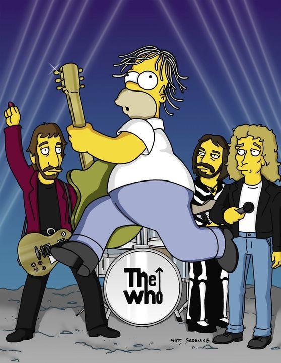 """Homer (M.) bei einem Auftritt mit der Rockgruppe """"The Who"""". - Bildquelle: TM +   2000 Twentieth Century Fox Film Corporation. All Rights Reserved."""