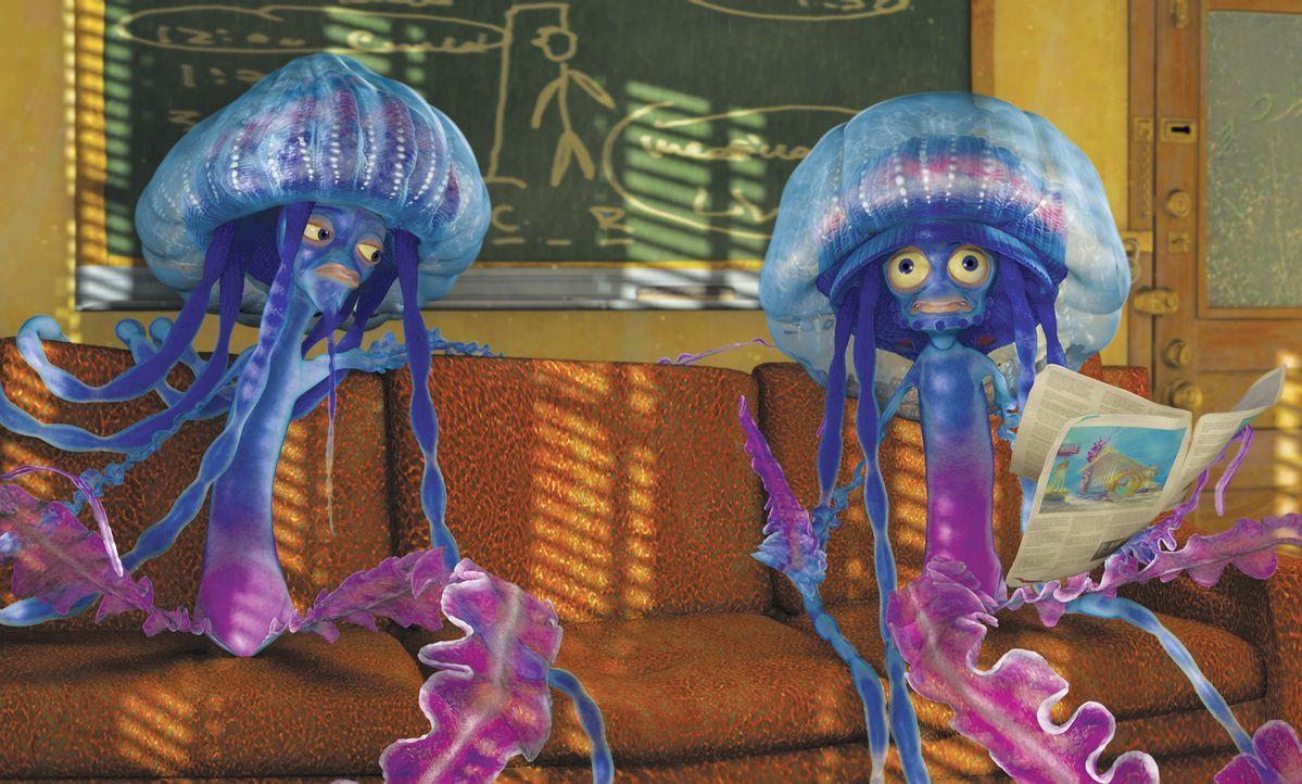 Werden die zwei Rasta-Quallen Ernie und Bernie den Auftrag, Oscar aus dem Weg zu räumen, tatsächlich durchführen? - Bildquelle: United International Pictures