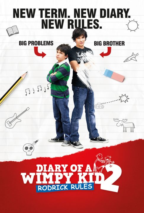 DIARY OF A WIMPY KID: RODRICK RULES - Plakatmotiv - Bildquelle: 2011 Twentieth Century Fox Film Corporation. All rights reserved.