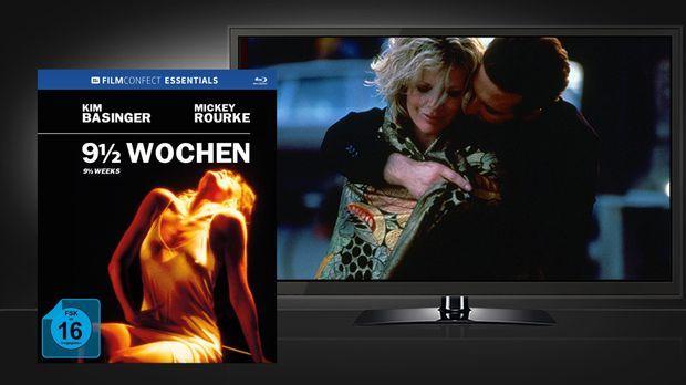 9 1/2 Wochen - Szene und Blu-ray Cover © Filmconfect