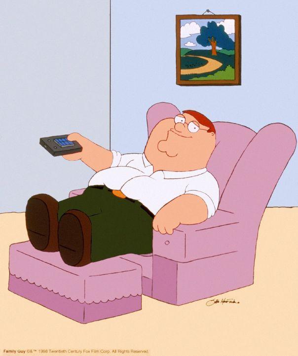 (4. Staffel) - Peters Lieblingsbeschäftigung: Auf seinem Sessel fernsehen! - Bildquelle: TM +   2005 Twentieth Century Fox Film Corporation. All Rights Reserved.