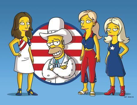 Die Simpsons - Homer (2.v.l.) und die Dixie Chicks ... - Bildquelle: und TM T...