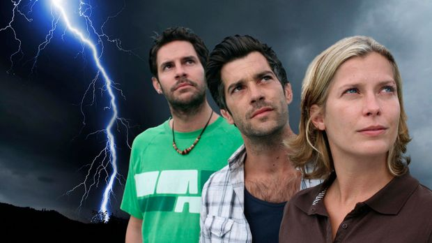v.l.n.r.: Bernie (Manuel Witting), Tom (Xaver Hutter) und Andrea (Valerie Nie...