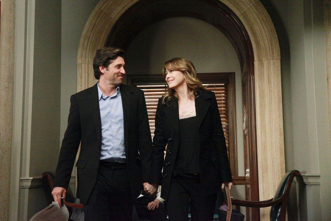 Meredith (Ellen Pompeo, r.) und Derek (Patrick Dempsey, l.) treffen eine Entscheidung, die ihr Leben komplett verändern wird ... - Bildquelle: ABC Studios