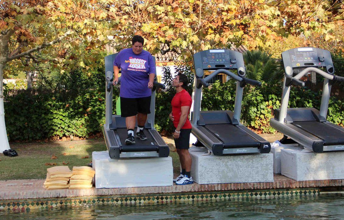 Die Kandidaten müssen laufen, laufen, laufen! Ansonsten landen sie im Pool ... - Bildquelle: Enrique Cano SAT.1