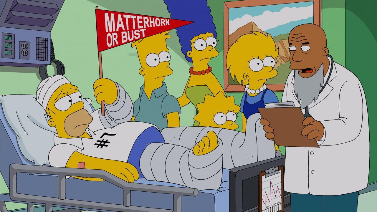 Der geklonte Homer (l.) Nummer Sieben unterscheidet sich in nichts vom Original und von seinen fünf Klon-Vorgängern: Er ist nicht bereit, auf die Ge... - Bildquelle: 2013 Twentieth Century Fox Film Corporation. All rights reserved.