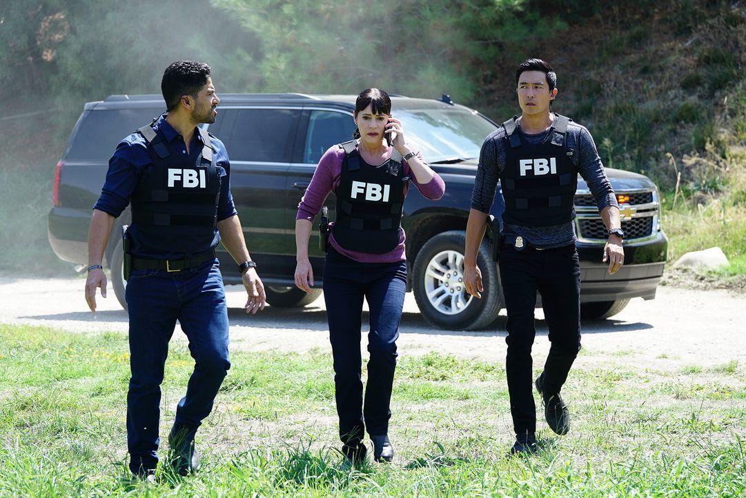 Auf der Jagd nach einem möglichen Serientäter: Emily (Paget Brewster, M.), Alvez (Adam Rodriguez, l.) und Simmons (Daniel Henney, r.) ... - Bildquelle: ABC Studios