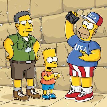 Die Simpsons - Ned Flanders hat es sich zur Aufgabe gesetzt, Homer (r.) endli...