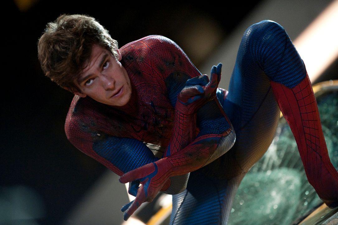 Hat einen ziemlich gefährlichen Nebenjob: Schüler Peter Parker (Andrew Garfield) alias Spiderman macht Jagd auf die schweren Jungen von New York ... - Bildquelle: 2012 Columbia Pictures Industries, Inc.  All Rights Reserved.