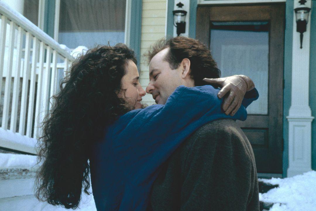 Die anfängliche Abneigung scheint sich gelegt zu haben: Phil Connors (Bill Murray, r.) und Rita Hanson (Andie MacDowell, l.) - Bildquelle: Columbia TriStar