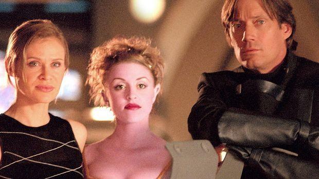 Beka (Lisa Ryder, l.), Trance (Laura Bertram, M.) und Dylan (Kevin Sorbo, r.)...