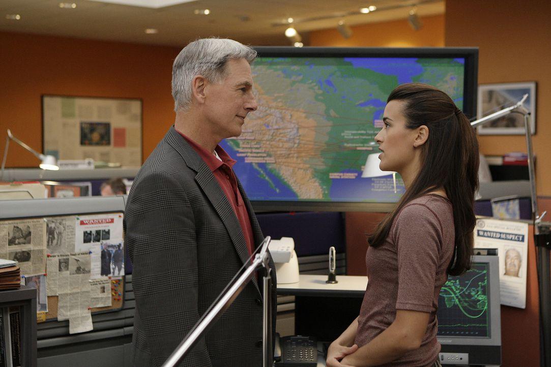 Während Tony und Nikki Jardine in Bagdad ermitteln, versuchen Gibbs (Mark Harmon, l.) und Ziva (Cote de Pablo, r.) von der Zentrale aus Information... - Bildquelle: CBS Television