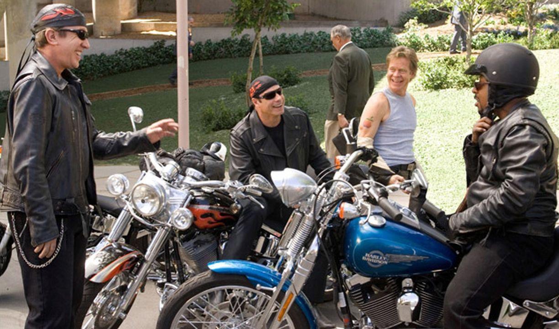 Die vier gesetzten Freunde Woody (John Travolta, 2.v.l.), Dudley (William H. Macy, 2.v.r.), Doug (Tim Allen, l.) und Bobby (Martin Lawrence, r.) bre... - Bildquelle: Touchstone Pictures.  All rights reserved