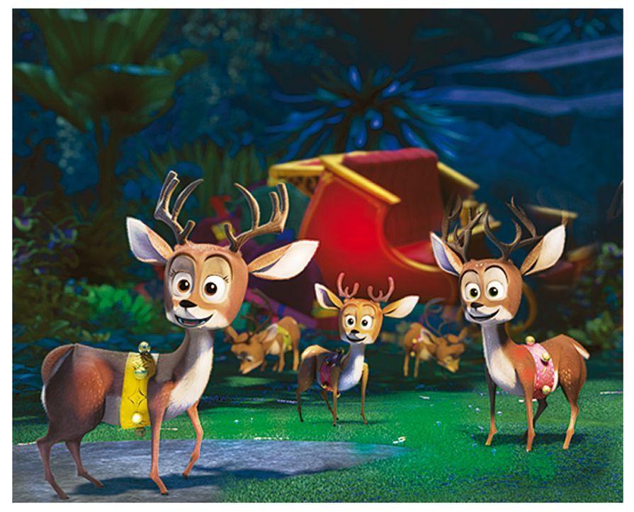 Die Rentiere weigern sich, die Geschenke auszuliefern, da sie nur Aufträge, die direkt vom Weihnachtsmann kommen, annehmen ... - Bildquelle: United International Pictures (UIP)