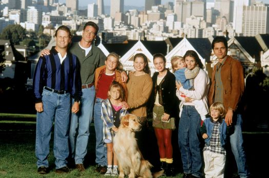Full House - (8. Staffel) - Bei Joey (Dave Coulier, l.), Danny (Bob Saget, 2....