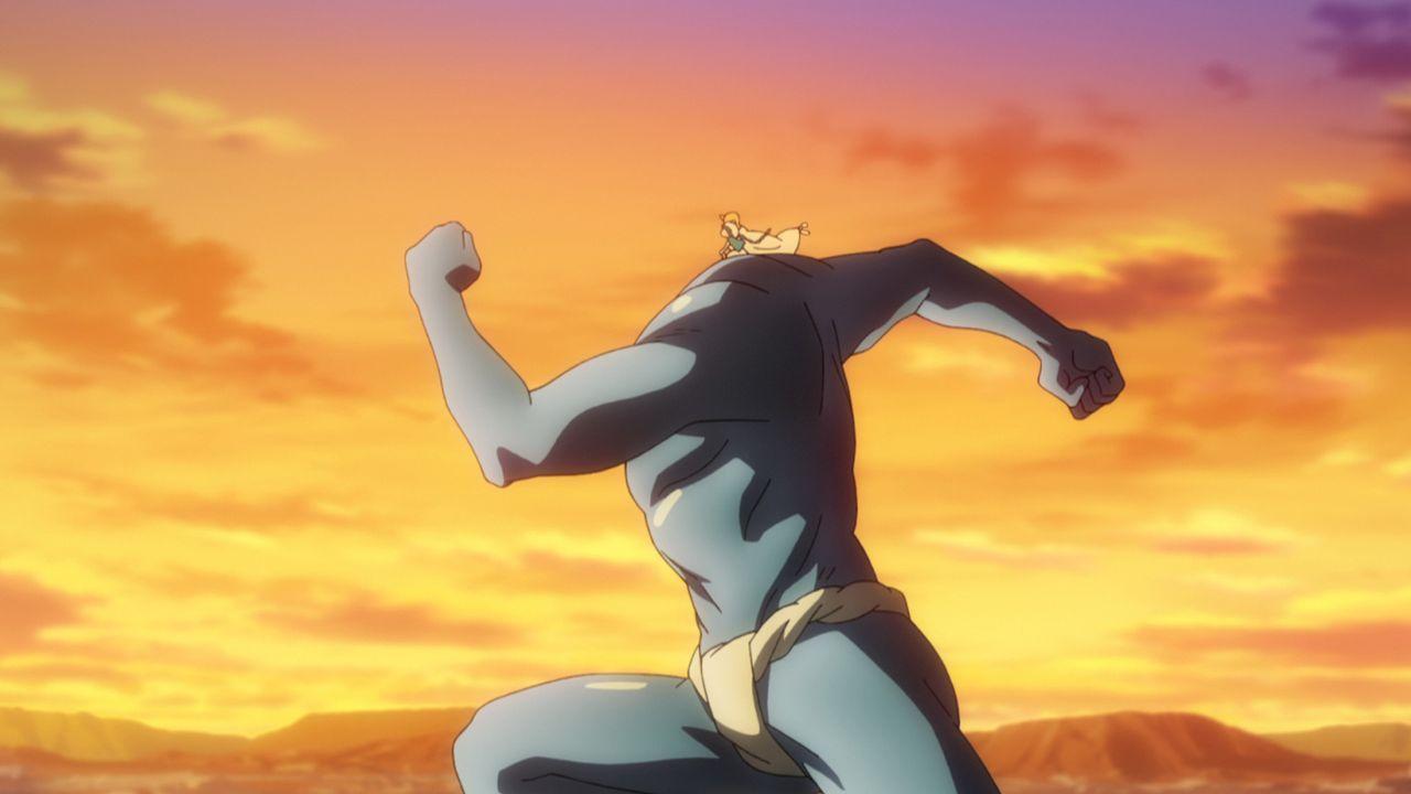 Treuer Freund: Seit sich Aladdin gewünscht hat, dass der kopflose Dschinn Ugo (Bild) sein Freund ist, begleitet dieser ihn auf seinen Reisen ... - Bildquelle: Shinobu Ohtaka / SHOGAKUKAN, Magi Committee, MBS