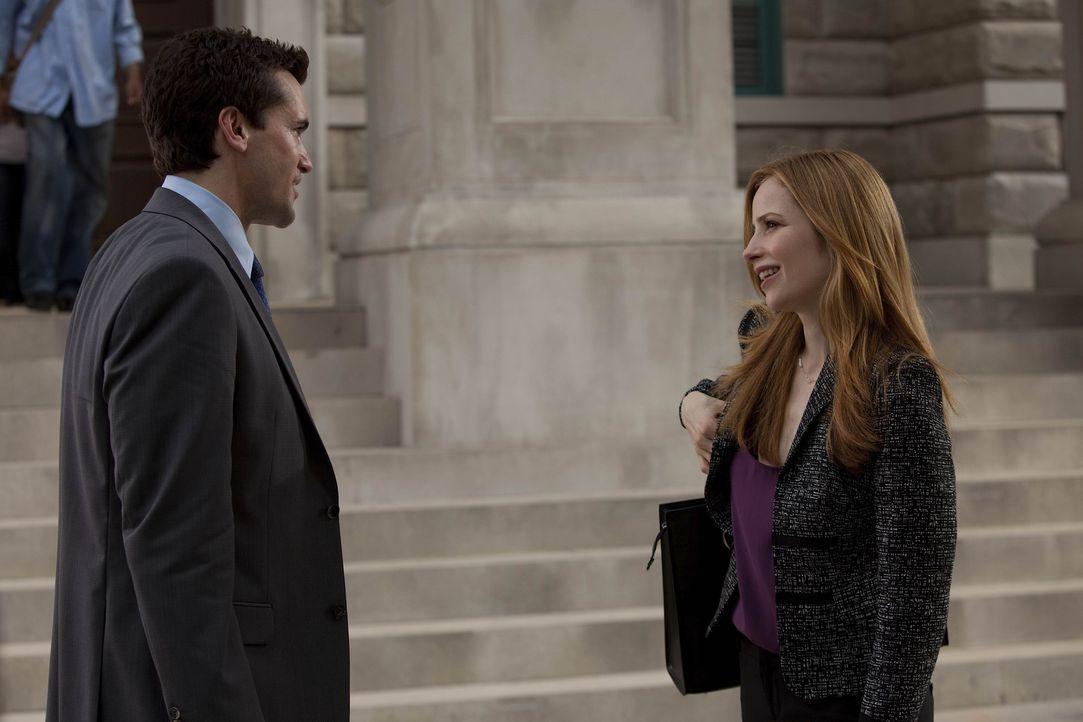 Haben Grayson (Jackson Hurst, l.) und Vanessa (Jaime Ray Newman, r.) eine Chance? - Bildquelle: 2009 Sony Pictures Television Inc. All Rights Reserved.