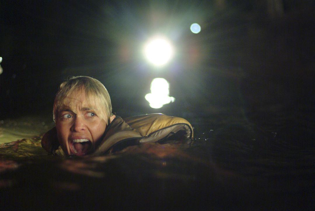 Wie schnell schwimmst du? Die Gestrandeten beschließen, dass Killerkrokodil auszutricksen. Während Kate (Radha Mitchell) schwimmen soll, um Hilfe zu...