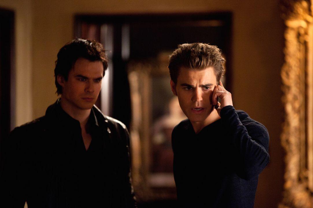 Müssen mit Entsetzen feststellen, dass Elena Elijah wieder zum Leben erweckt hat: Stefan (Paul Wesley, r.) und Damon (Ian Somerhalder, l.) - Bildquelle: Warner Bros. Television