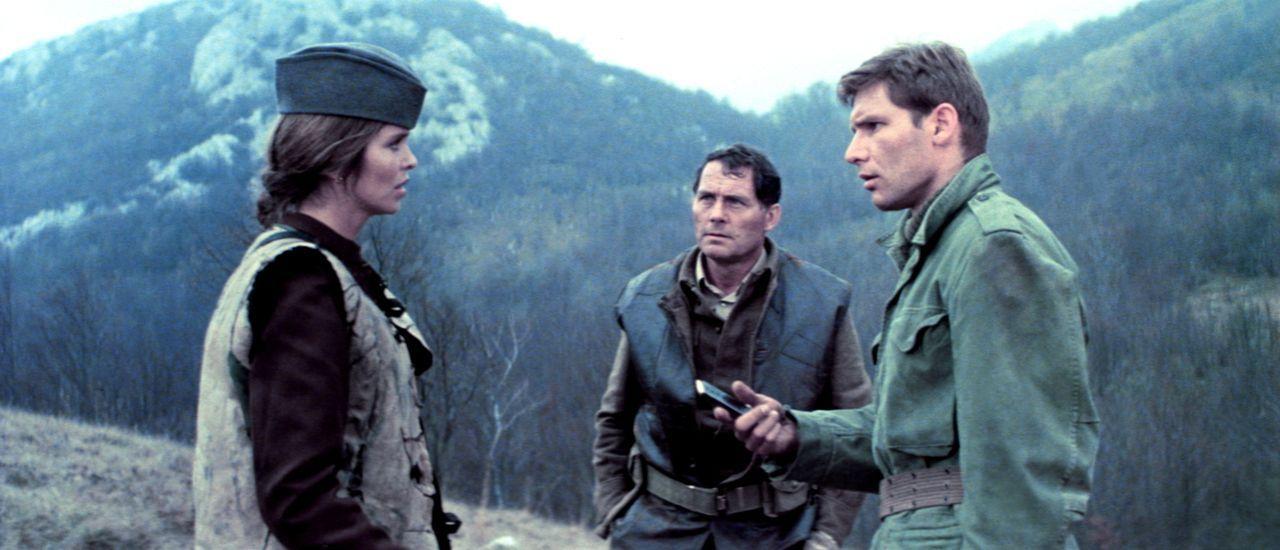 Die ortskundige Partisanin Maritza (Barbara Bach, l.) konnte Mallory (Robert Shaw, M.) und Barnsby (Harrison Ford, r.) aus den Händen serbischer Fre... - Bildquelle: Columbia Pictures