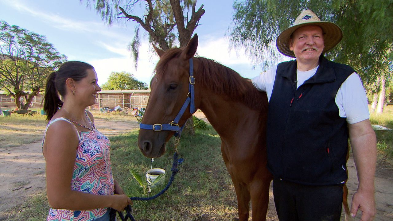 Bei seiner Reise nach Australien lässt es sich Tamme Hanken (r.) nicht nehmen, eine der bekanntesten Pferderennbahnen der Welt zu besuchen, wo auch... - Bildquelle: kabel eins