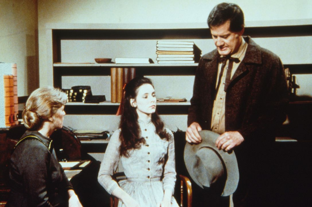 Victor Crosby (Jim Antonio, r.) möchte Annie Crane (Madeline Stowe, M.) dazu bewegen, ihre leibliche Mutter Marge zu besuchen. Annies Adoptivmutter... - Bildquelle: Worldvision
