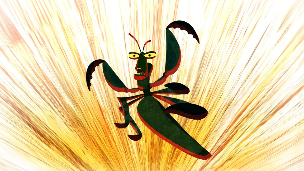 Er ist stark, schnell, klein und todbringend! Mantis nimmt es mit jedem Gegner auf! - Bildquelle: 2008 DREAMWORKS ANIMATION LLC. ALL RIGHTS RESERVED.
