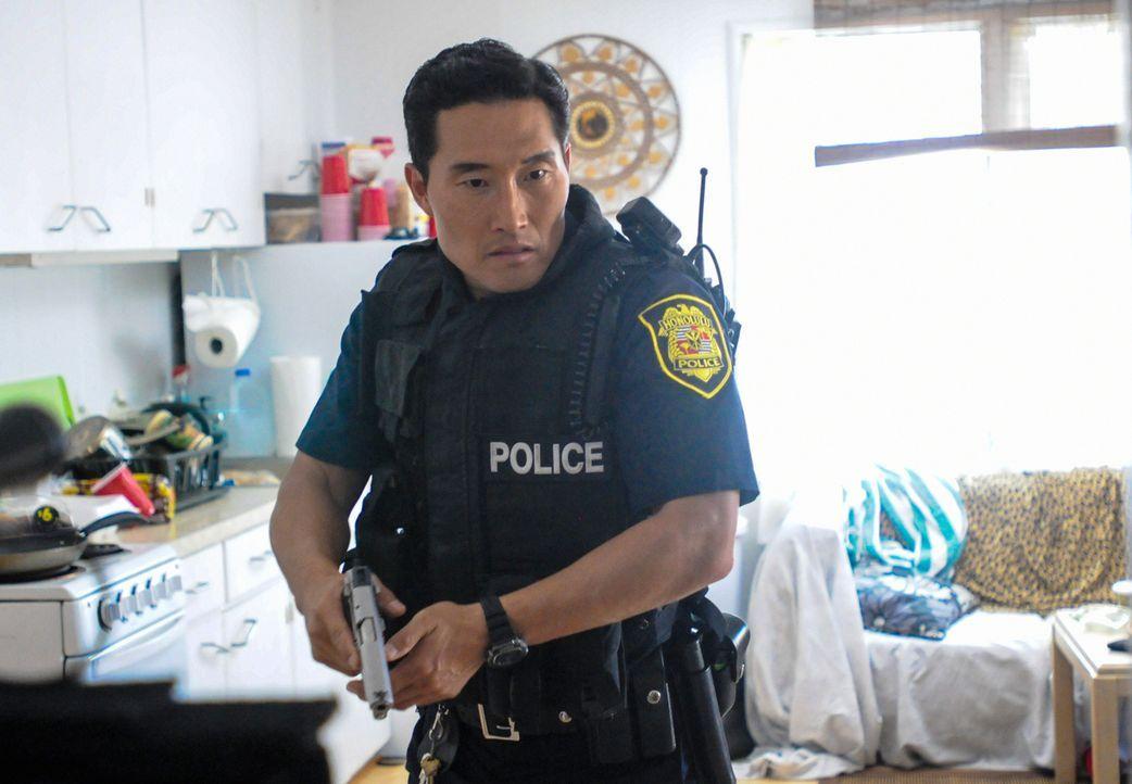 Die Abteilung für Interne Angelegenheiten befragt Chin (Daniel Dae Kim) bezüglich des Mordes an seinem Vater vor über 15 Jahren ... - Bildquelle: 2013 CBS BROADCASTING INC. All Rights Reserved.