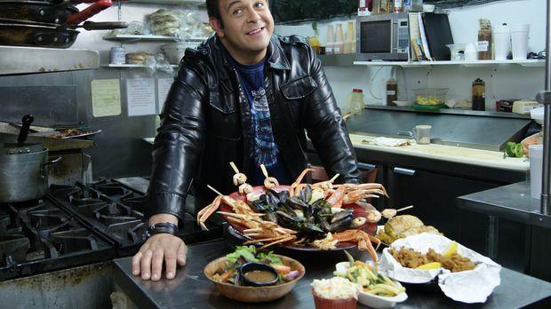 Im Port Royal Grille in Islip tritt Adam zum Wettessen bei der Davey Jones' L...