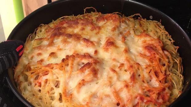 Hackfleisch Spaghetti Torte