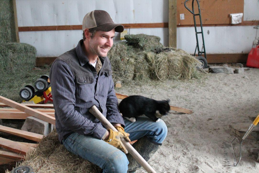 Eine Bison-Ranch in der Wildnis Montanas. Ob sich Jon (Bild) und Etta das wirklich gut genug überlegt haben? Denn schließlich haben sie eine 18 Mona... - Bildquelle: 2016,DIY Network/Scripps Networks, LLC. All Rights Reserved