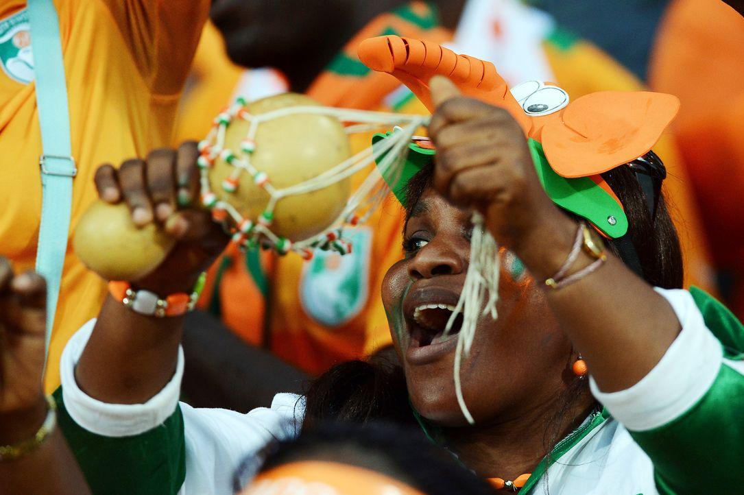 Die ivorischen Fans -4 - Bildquelle: AFP