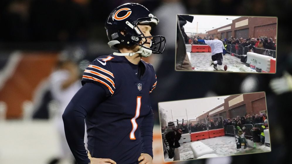 """NFL-Fans versuchten sich an der """"Cody Parkey Challenge"""" - Bildquelle: Getty/ Twitter@madkenney"""