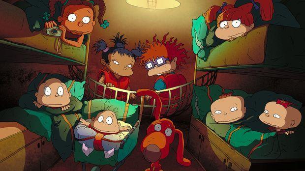 Erwarten jede Menge Abenteuer: (oben v.l.n.r.) Susie, Kimi, Chuckie, Angelica...