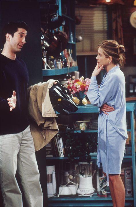 Rachel (Jennifer Aniston, r.) versteht die Welt nicht mehr: Ross (David Schwimmer, l.) macht ihr ein unmoralisches Angebot. - Bildquelle: TM+  2000 WARNER BROS.