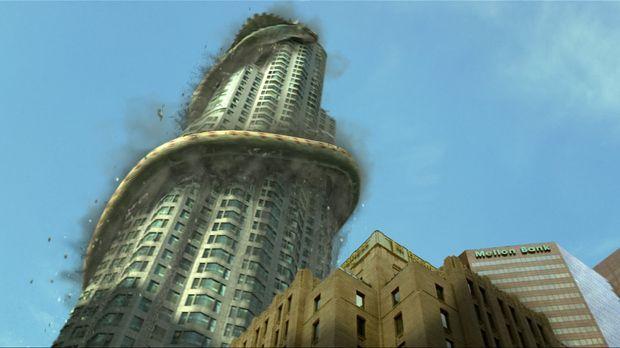 Erdbeben erschüttern Los Angeles. Sie erinnern den jungen Nachrichtenreporter...