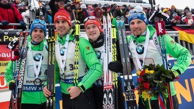 Biathlon-Weltcup Ruhpolding - Staffel Herren