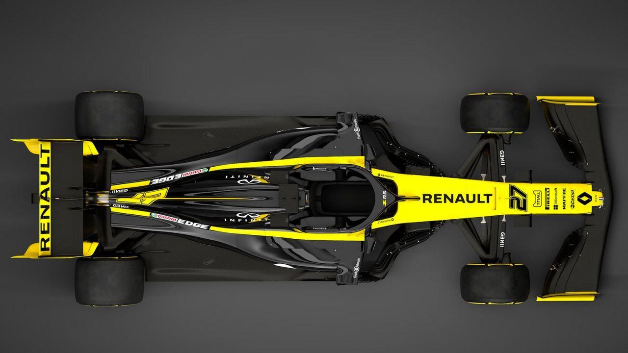 Formel-1-Autos 2019: Renault F1 Team - Bildquelle: Twitter/@RenaultF1Team