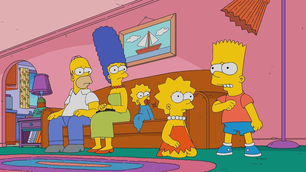 Wie ist es um (v.l.n.r.) Bart, Marge, Maggie, Lisa und Bart bestellt, sollte die Apokalypse wirklich über die Welt hineinbrechen? - Bildquelle: 2017-2018 Fox and its related entities.  All rights reserved.