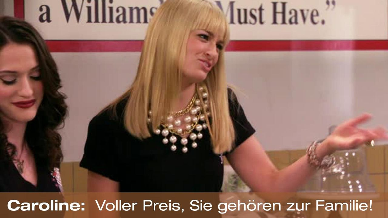 2-broke-girls-zitat-quote-staffel2-episode12-breite-weihnachten-caroline-preis-warnerpng 1600 x 900 - Bildquelle: Warner Bros. International Television