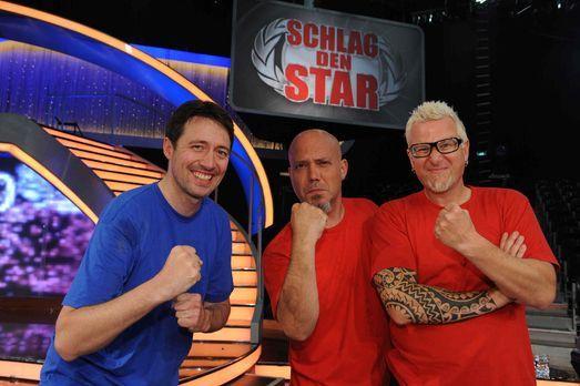 """Schlag den Star - Lars (r.) und Ande (M.) von Mudstuhl stellen sich in """"..."""