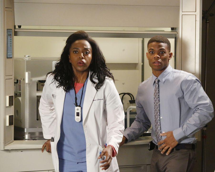 Shane wird von einem schwangeren Teenager um Hilfe gebeten, während Eric (Paul James, r.) und Stephanie (Jerrika Hinton, l.) vor einem Problem stehe... - Bildquelle: ABC Studios