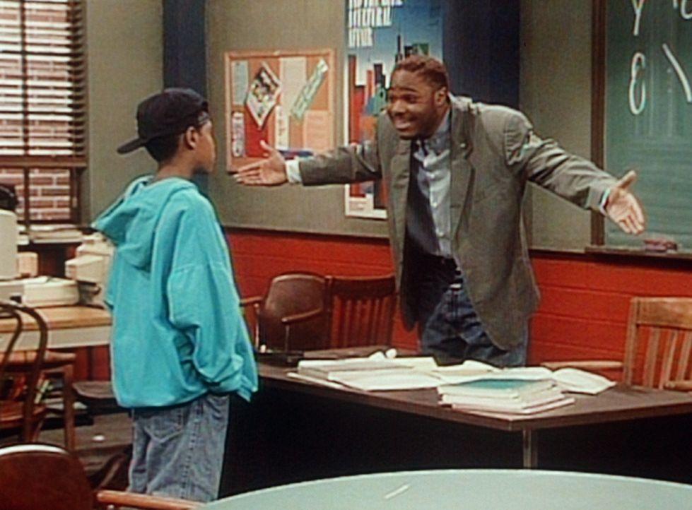 Theo (Malcolm-Jamal Warner, l.) versucht Stanley dazu zu überreden, einen Dyslexie-Test zu machen. - Bildquelle: Viacom