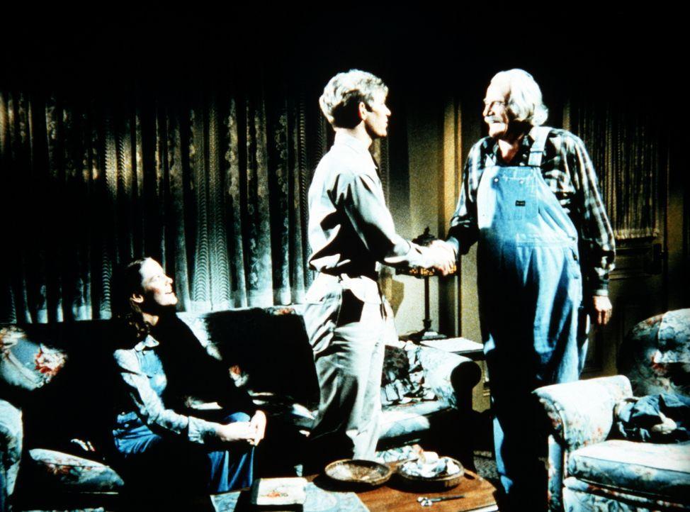 Gerald Haines (David Doremus, M.) gehört schon seit Jahren zur Familie. Als Erin (Mary Beth McDonough, l.) seinen Heiratsantrag ablehnt, verabschied... - Bildquelle: WARNER BROS. INTERNATIONAL TELEVISION