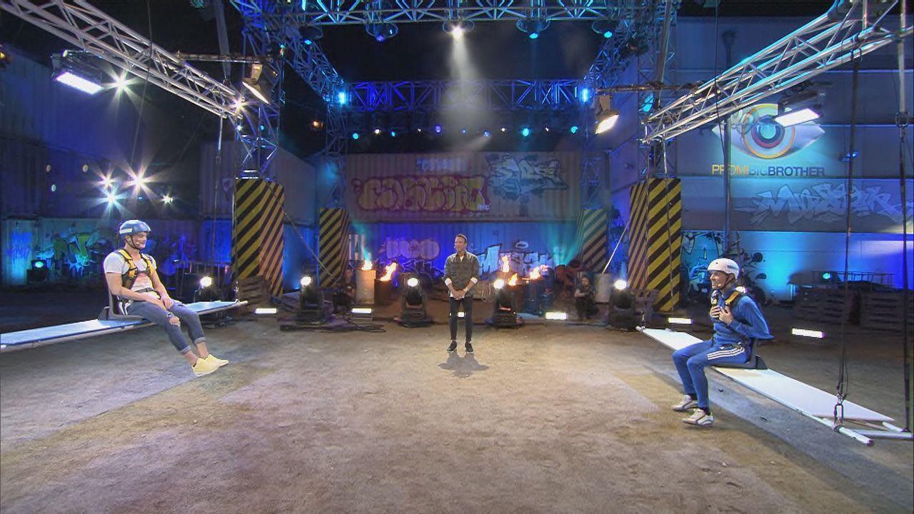 Dominik und Jens im Live-Duell - Bildquelle: SAT.1