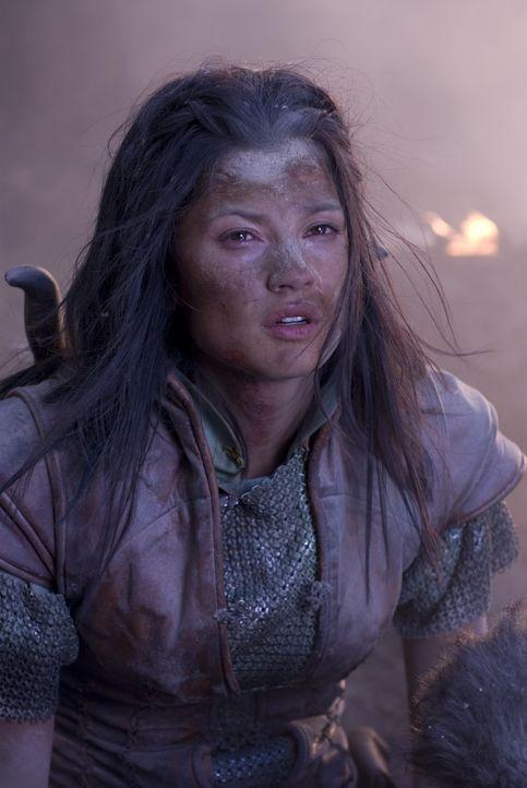 So leicht lässt sich die tapfere Kriegerin Perfidia (Natassia Malthe) nicht unterkriegen ... - Bildquelle: 2008 Dragonsteel Films Inc.
